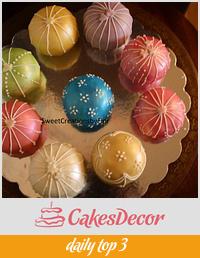 Temari Cake/Christmas ornament cake