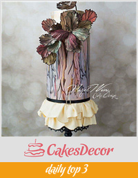 Elie Saab Fashion Inspired Cake for Cake Central