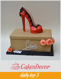 Christian Louboutin Stiletto Shoe Cake
