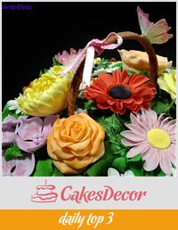 Spring flower basket