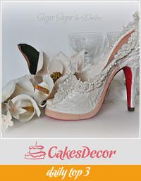 "Bridal Shoe - ""Love Is # 2"" Collaboration"