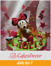 Another Baby Minnie Mouse cake...