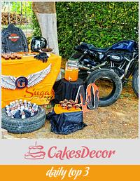 PDCA Caker Buddies Dessert Table Collaboration - Harley Davidson