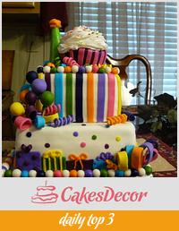 Cupcake 1st birthday cake