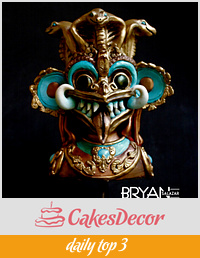 Beautiful Sri Lanka Cake Collab - Devil Mask