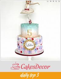Pastel Spring Ballerina cake