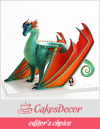 'Wings of fire' dragon cake