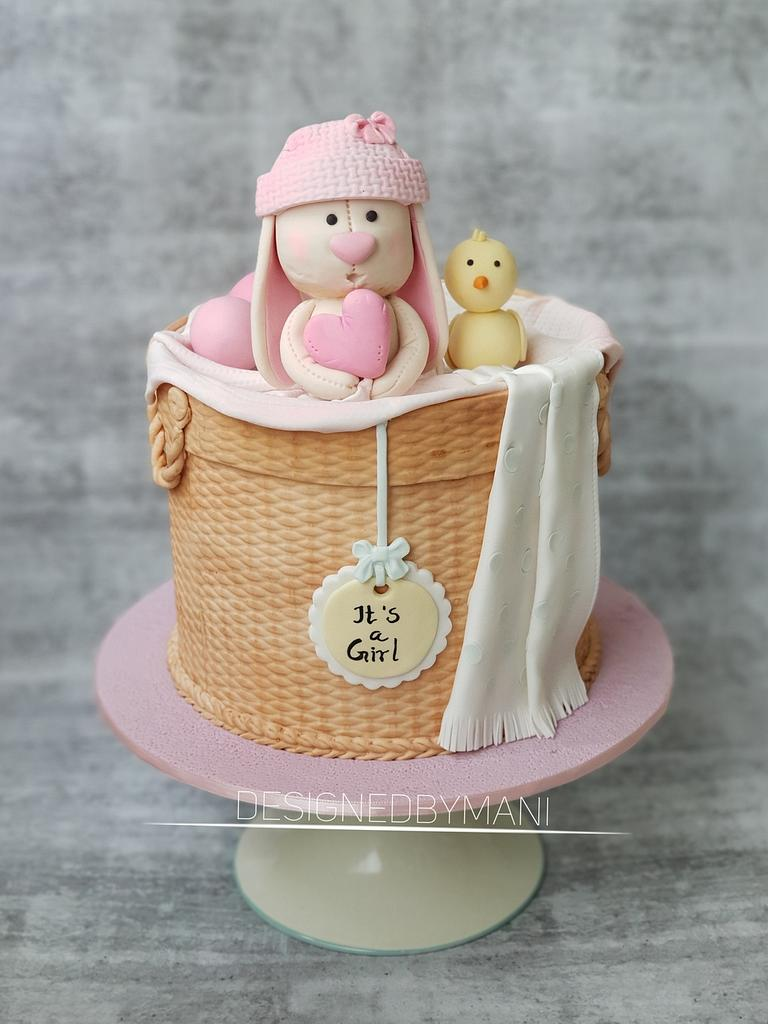 Baby shower cake by designed by mani