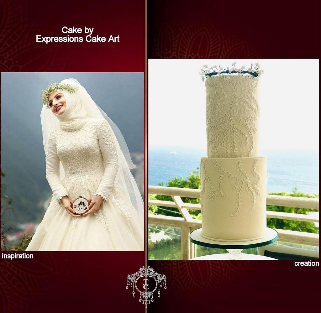 Islamic Wedding dress -Couture cakers 2020  by Expressions Cake Art (Su)