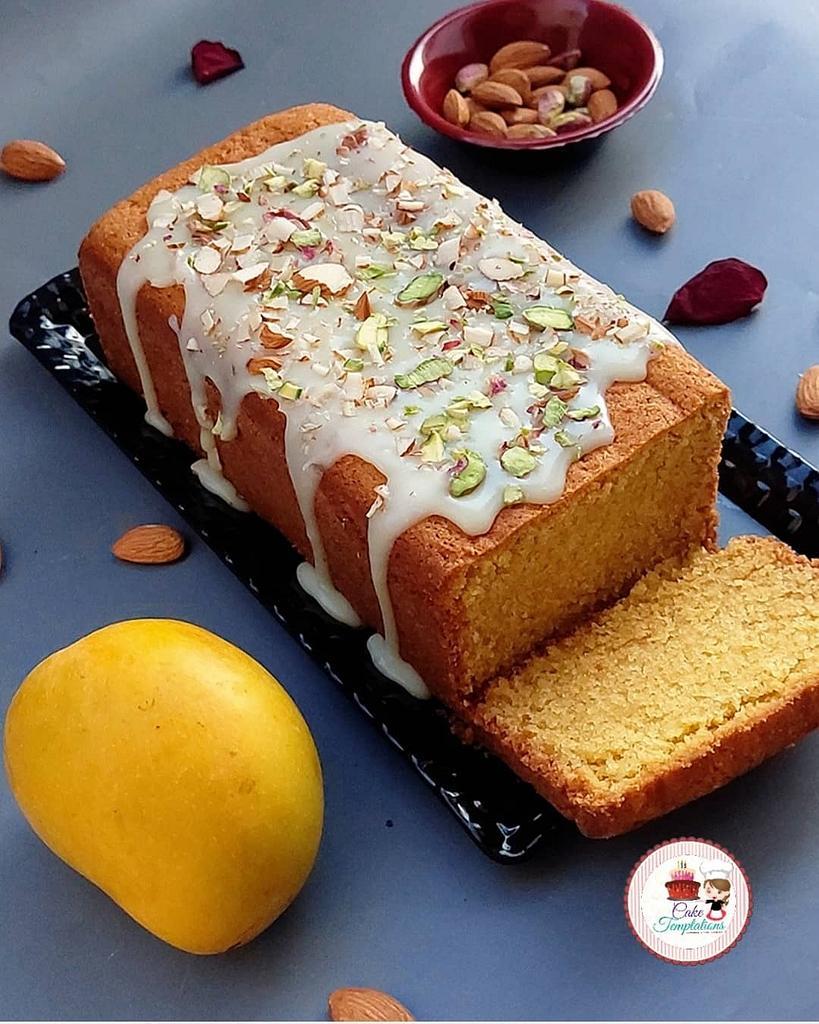 Mango almond tea cake  by Cake Temptations