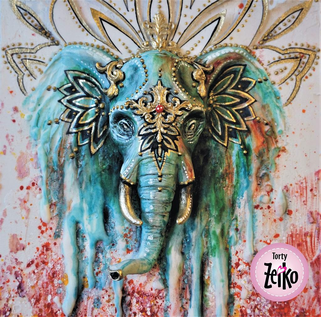 INCREDIBLE INDIA CAKE COLLABORATION - Painted Indian elephant by Torty Zeiko