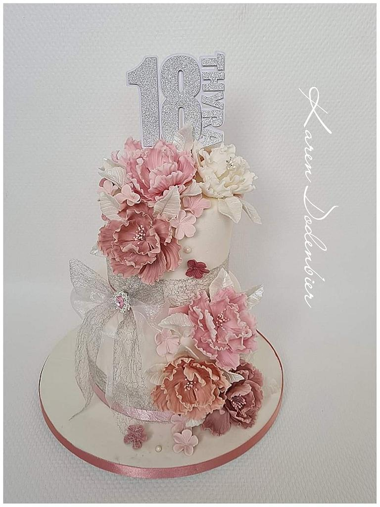 18th birthday cake  by Karen Dodenbier