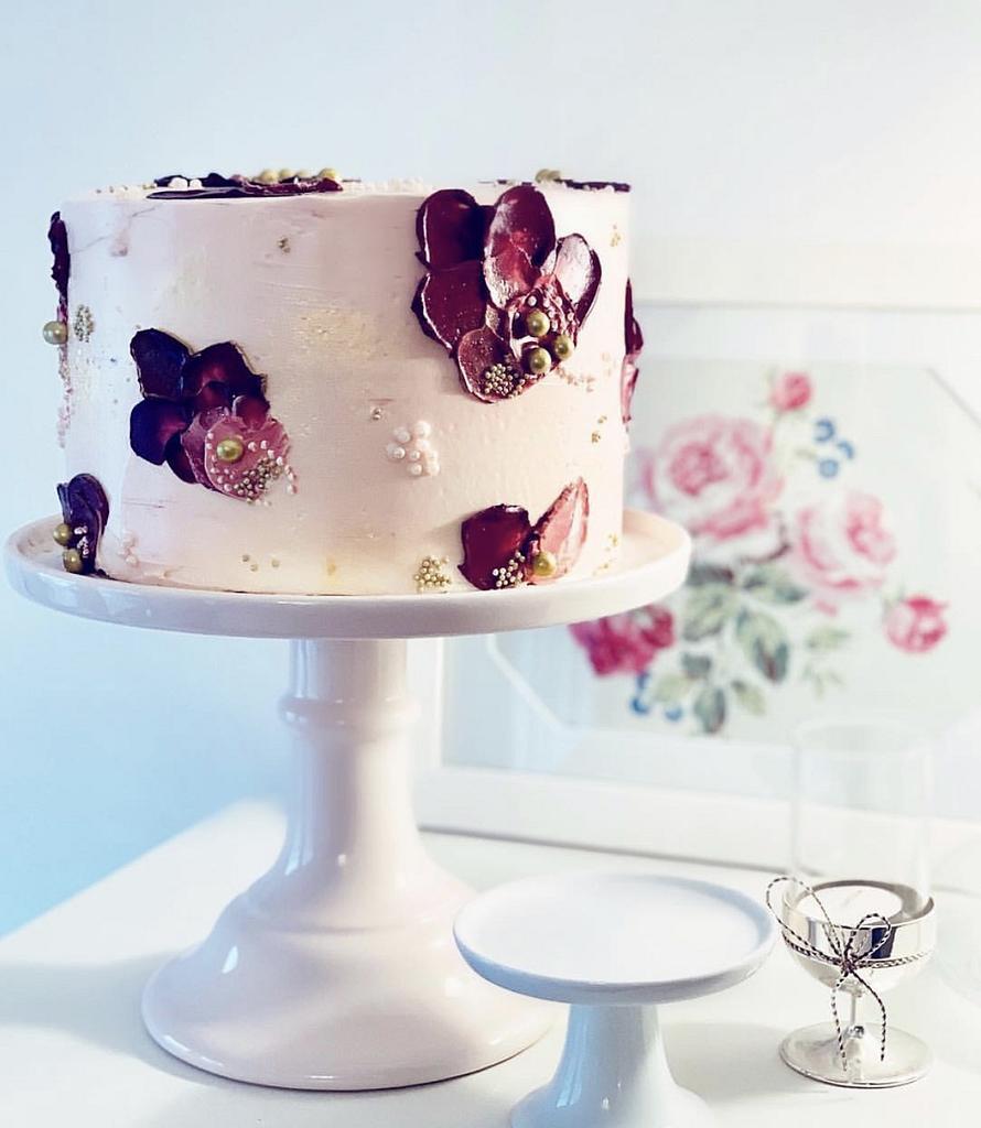 Palette Knife Birthday Cake by Sugar by Rachel