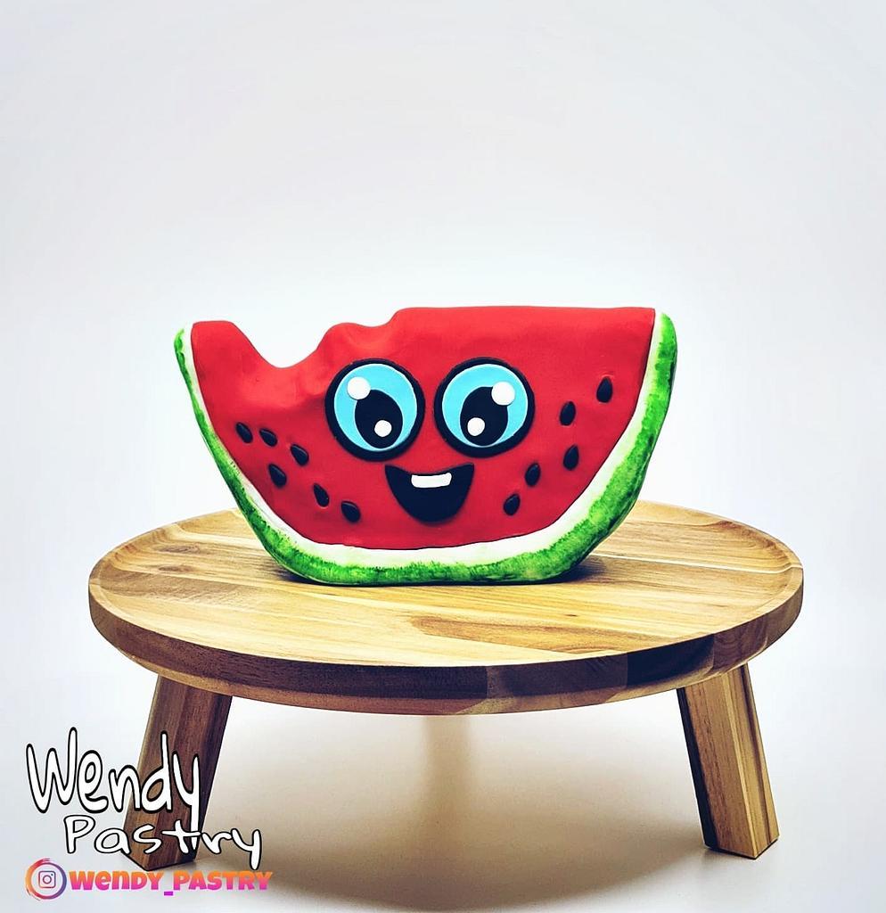 watermelon cake by Wendy