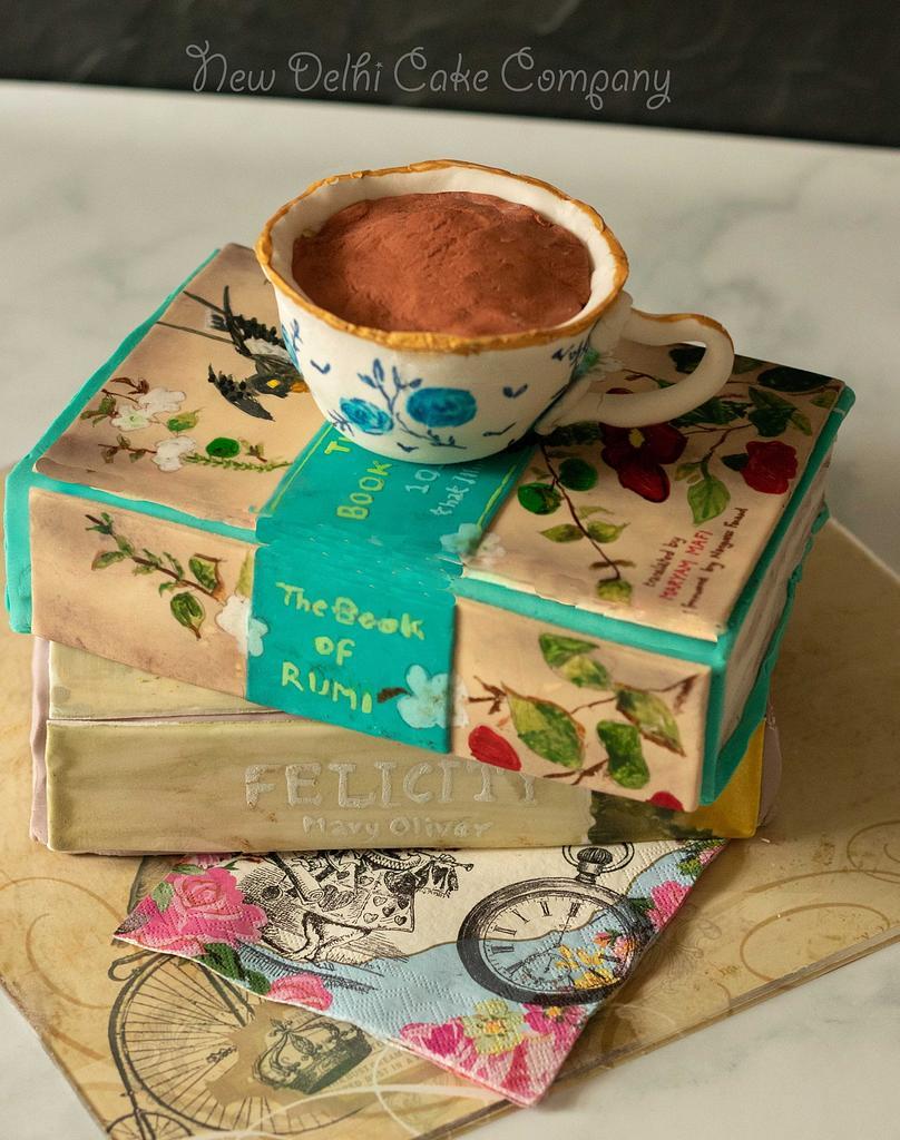 Books and tea by Smita Maitra (New Delhi Cake Company)