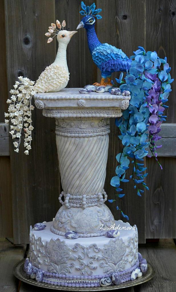 peacock cake by More_Sugar