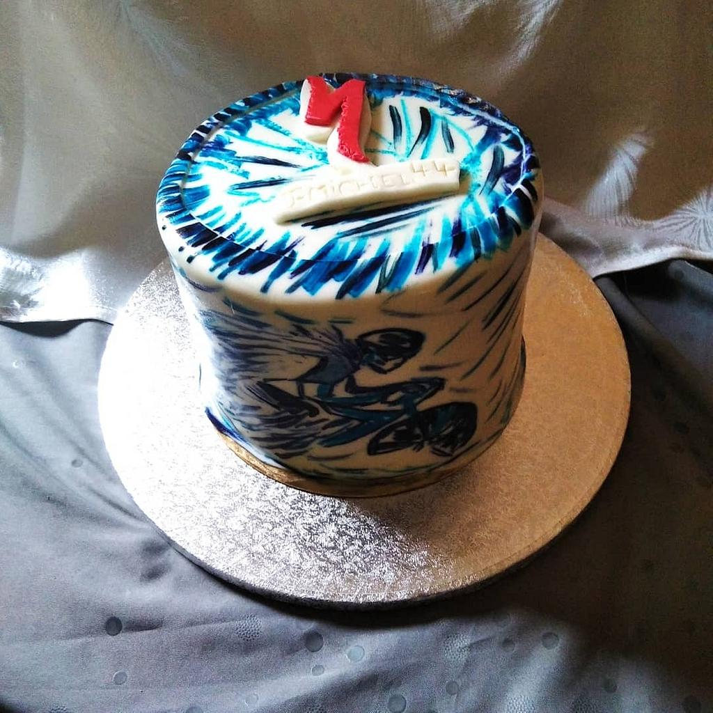 Birthday cake  by Cups'& Cakery Design