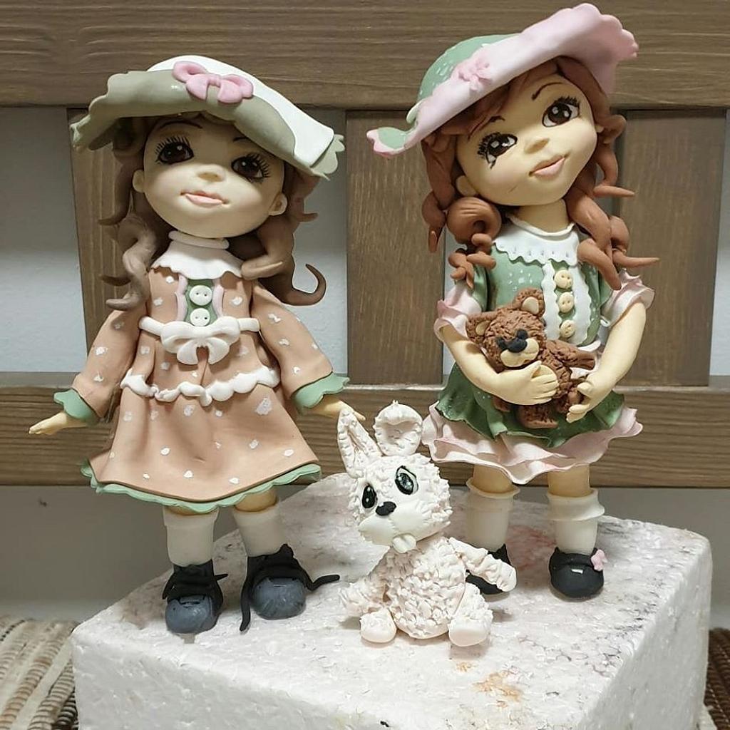 Sweet dolls - sisters by SojkineTorty