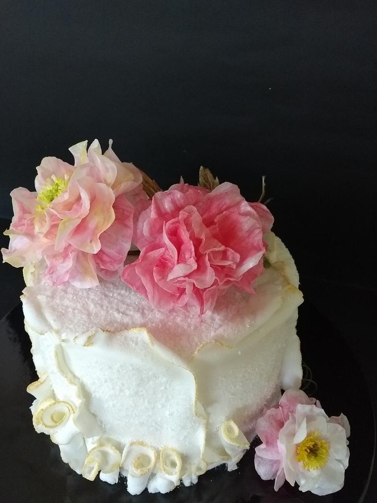 Peony cake by Clara