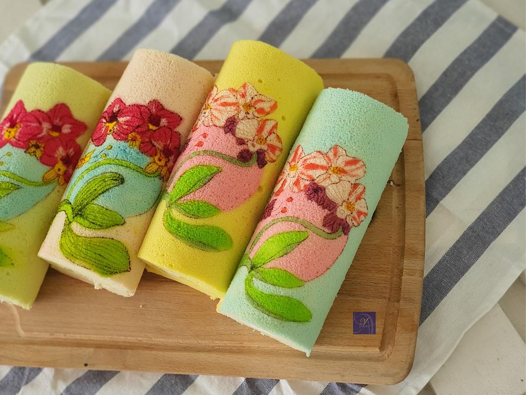 Hand Painted Swiss Roll   by Ms. V
