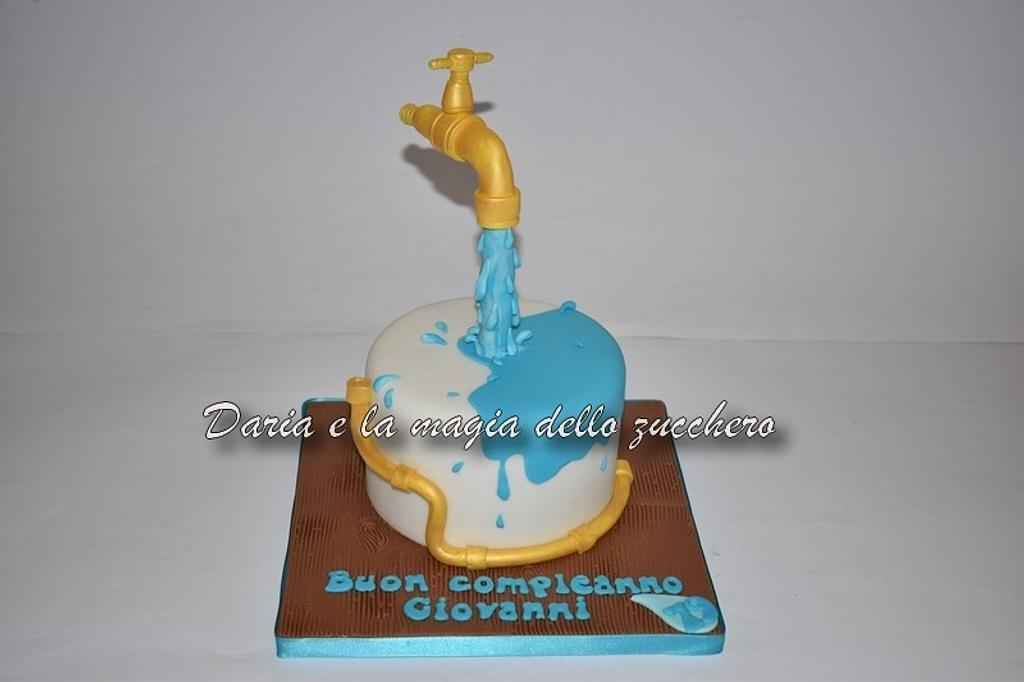 Plumber gravity cake by Daria Albanese