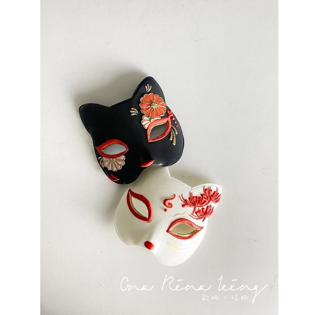 Royalicing fox mask by Vicky Chang
