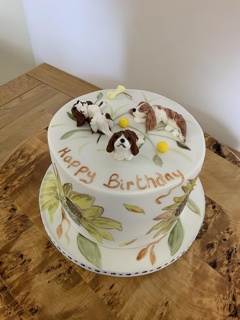 King Charles cavalier pups cake by milkmade