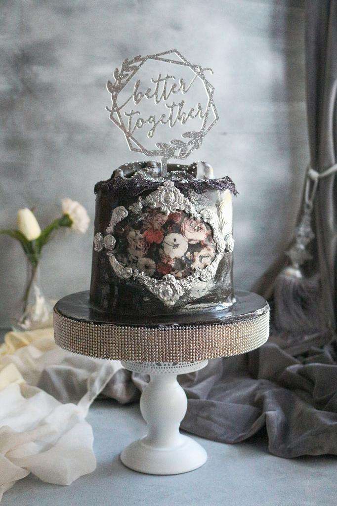 Engagement cake  by Rana Eid