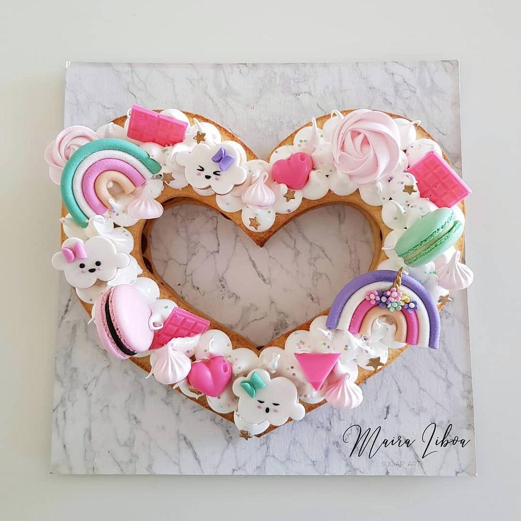 Heart cake by Maira Liboa
