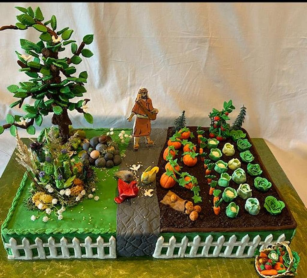 Bible Cake Collaboration - Parable of the Sower by Julia