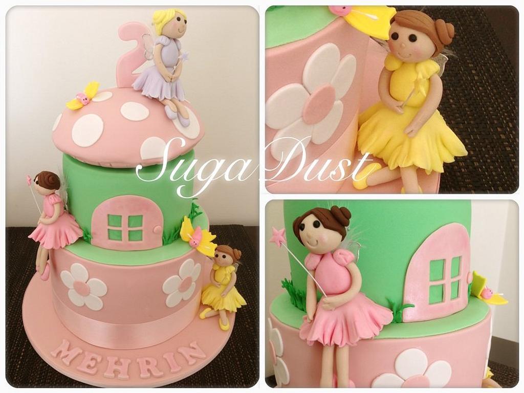 Fairy Mushroom Garden Cake by Mary @ SugaDust