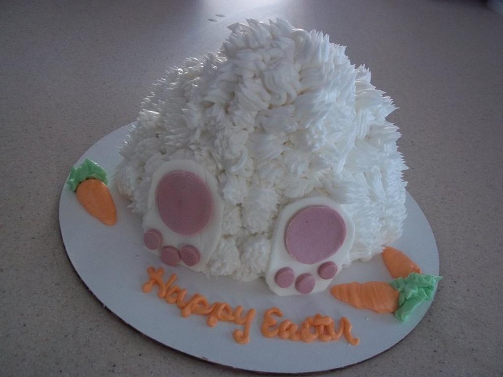 Bunny Butt Cake  by cakes by khandra