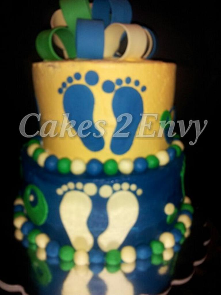 Baby Shower Cake by cakes2envy