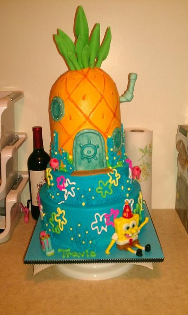 Spongebob Cake!! by Tiffany Palmer