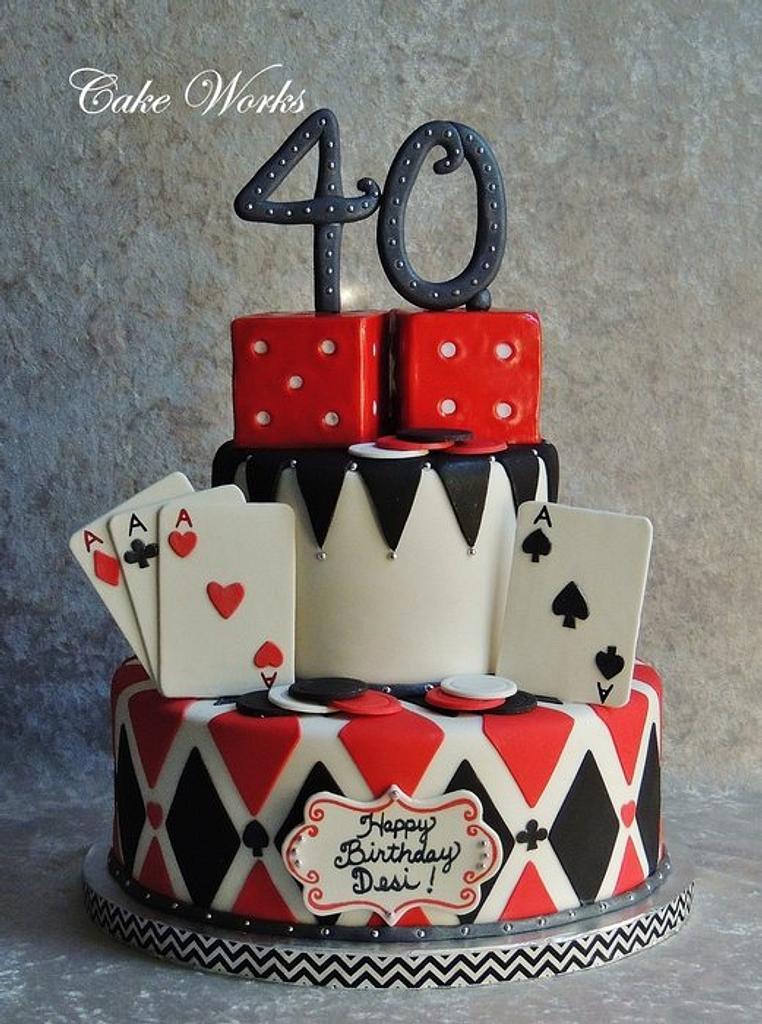 Poker Themed Cake by Alisa Seidling