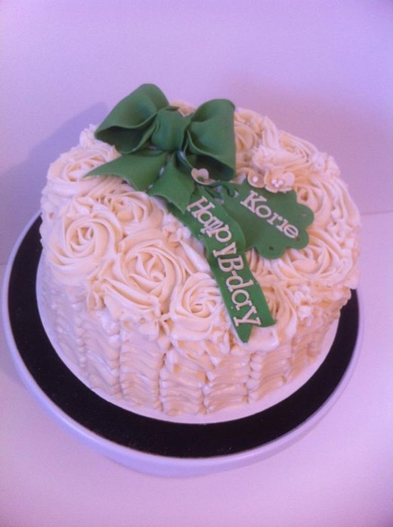 Ruffle Rose Cake by BAKED