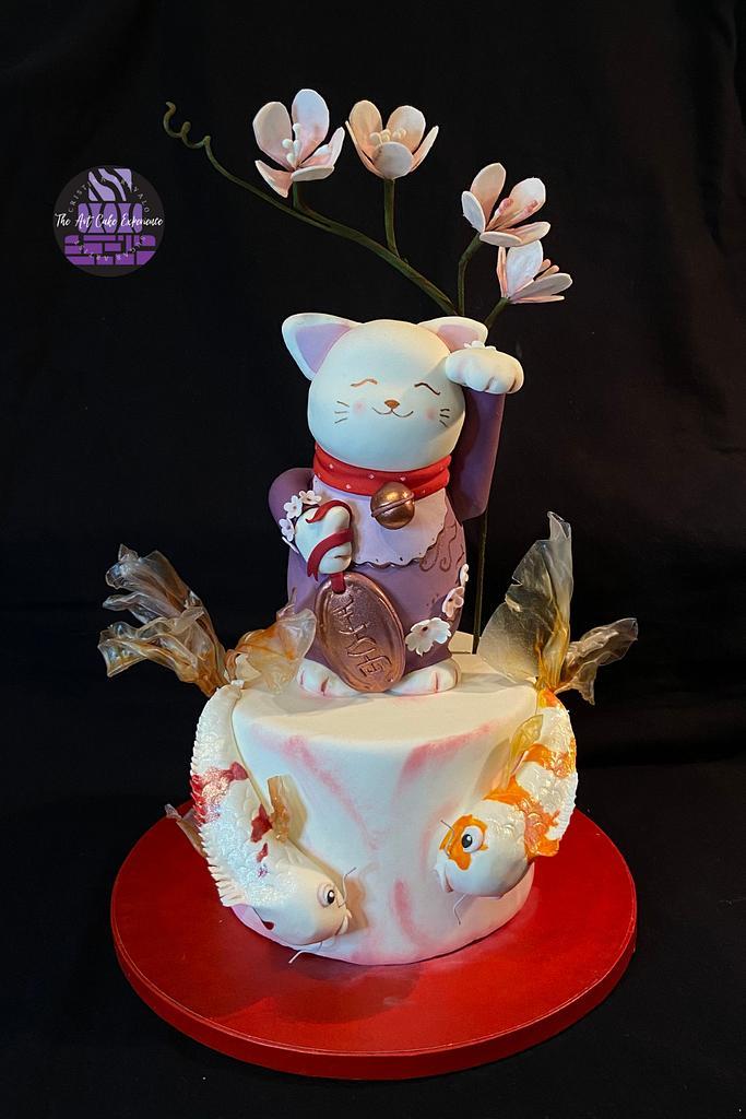 Lucky Cat- Japan International Cake Collaboration by Cristina Arévalo- The Art Cake Experience