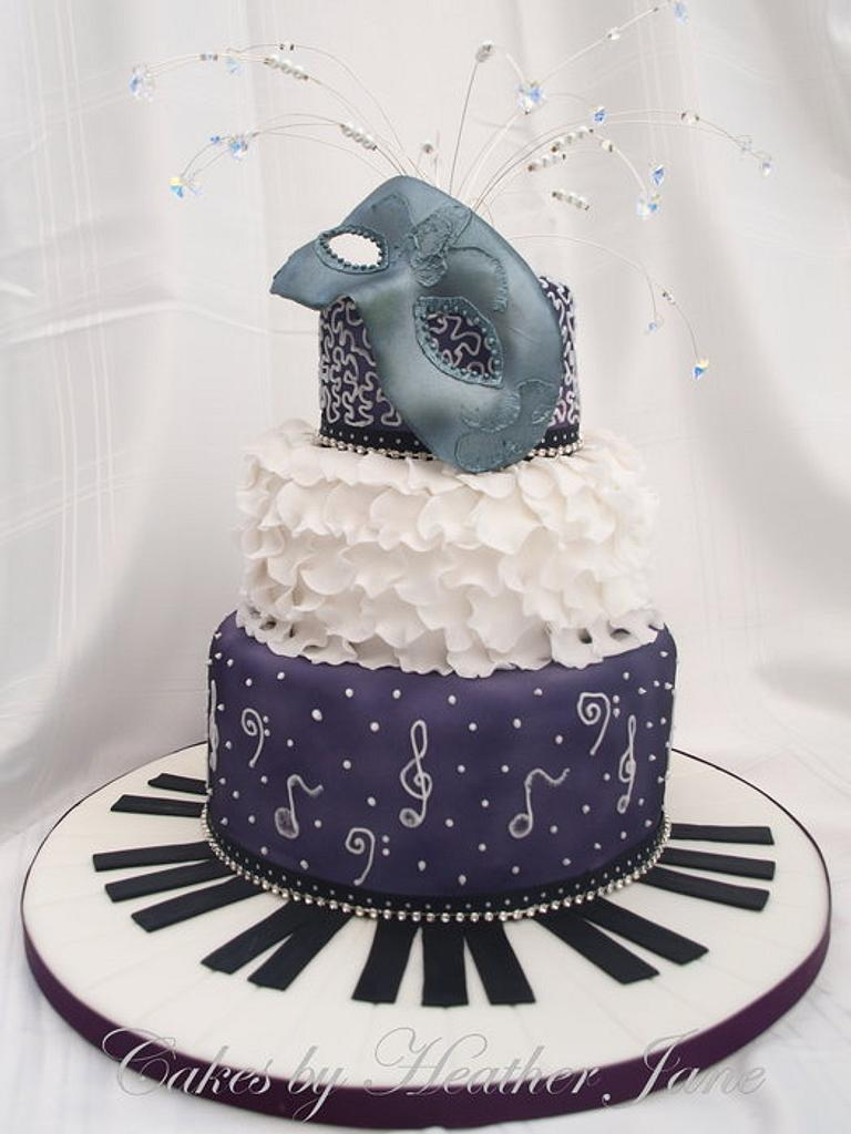 Musical Masquerade by Cakes By Heather Jane