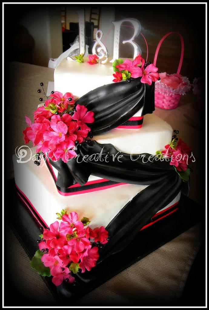 Pink & Black Wedding by Day