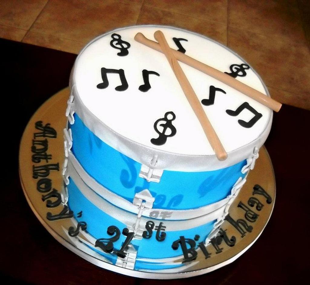 Drum Cake! by YummyTreatsbyYane