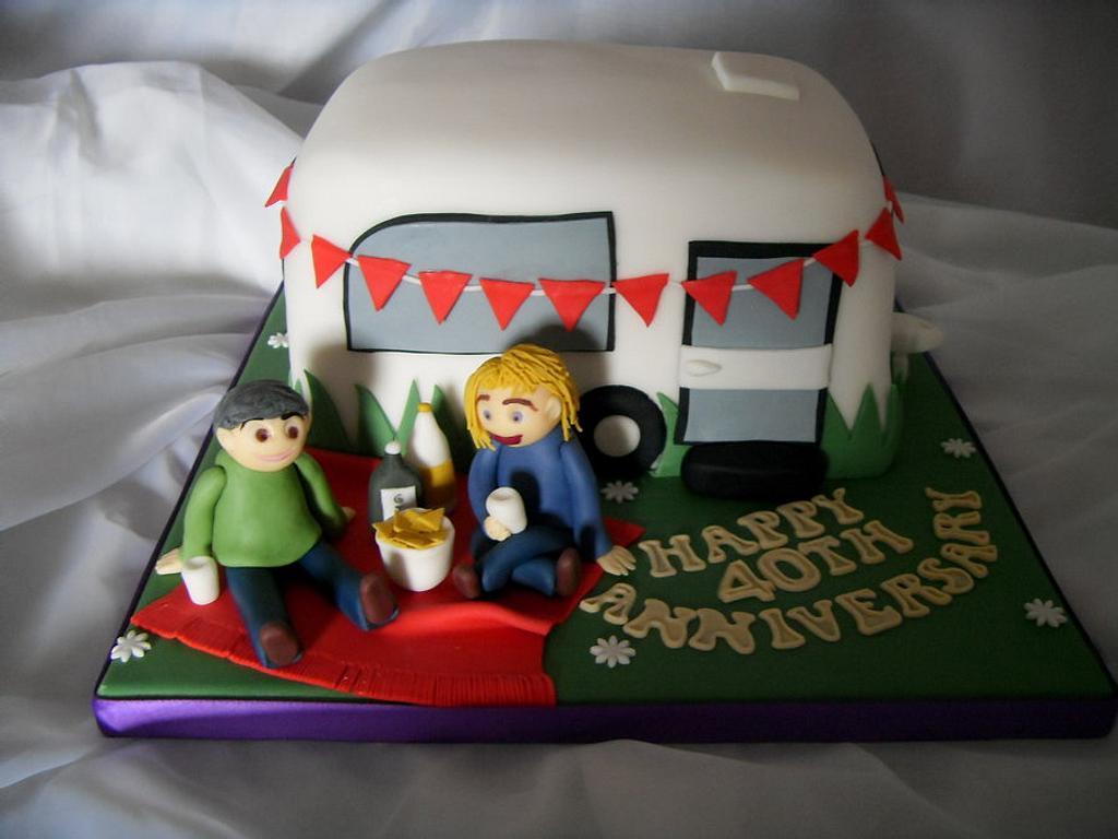 Happy Caravanning 40th Anniversary Cake by Christine