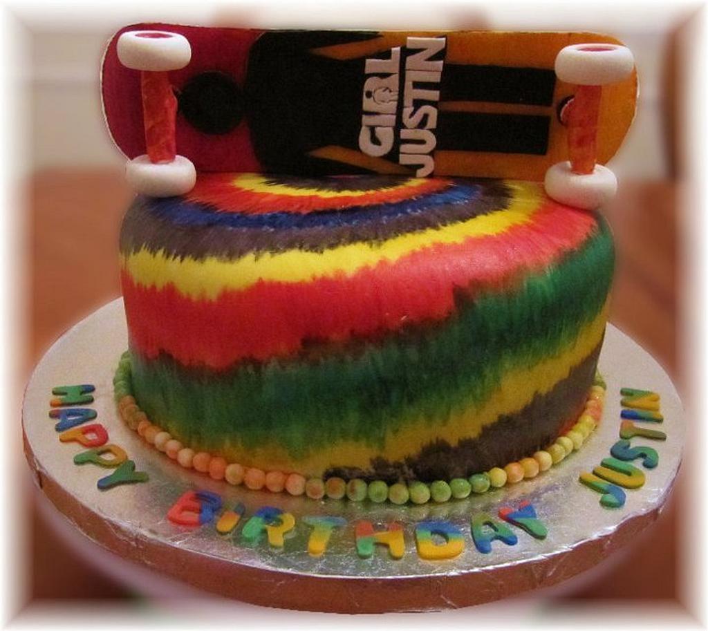 Tye Dye & Skate Board by Geelicious Confections
