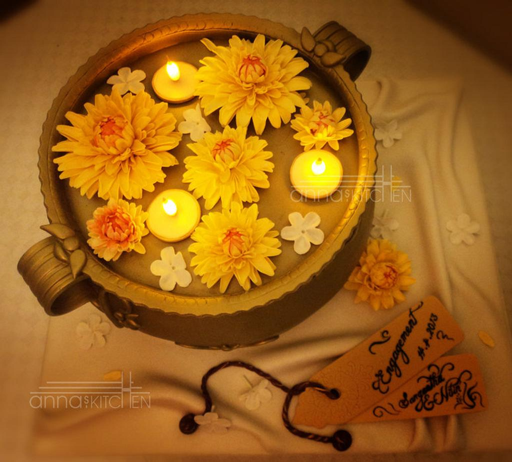 Uruli (Traditional Brass pot) cake by Anna Mathew Vadayatt