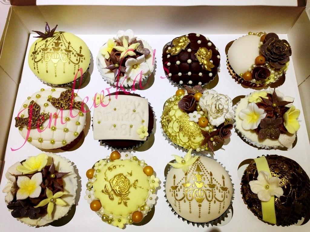 Vintage cupcakes  by Jemlewka's cupcakes