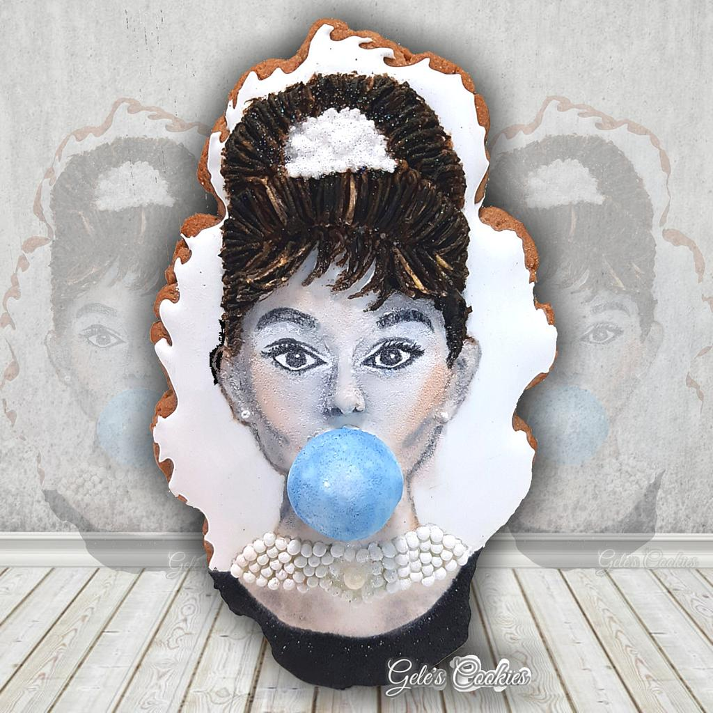 Audrey bubblegum by Gele's Cookies