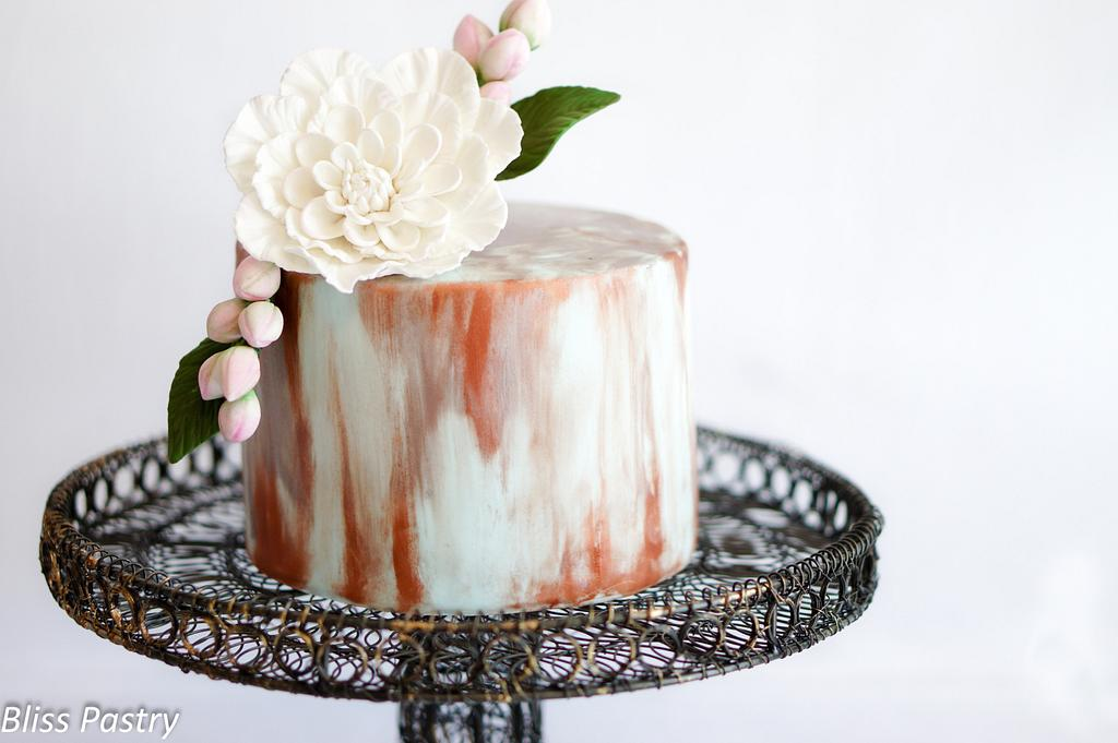 Painted Cake by Bliss Pastry
