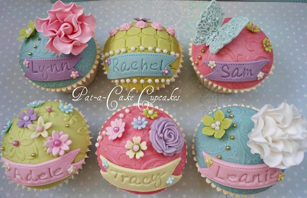 Personalised Cupcake Favours by Pat