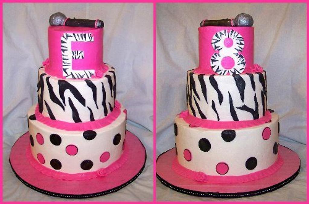 Hot pink zebra cake by cris711