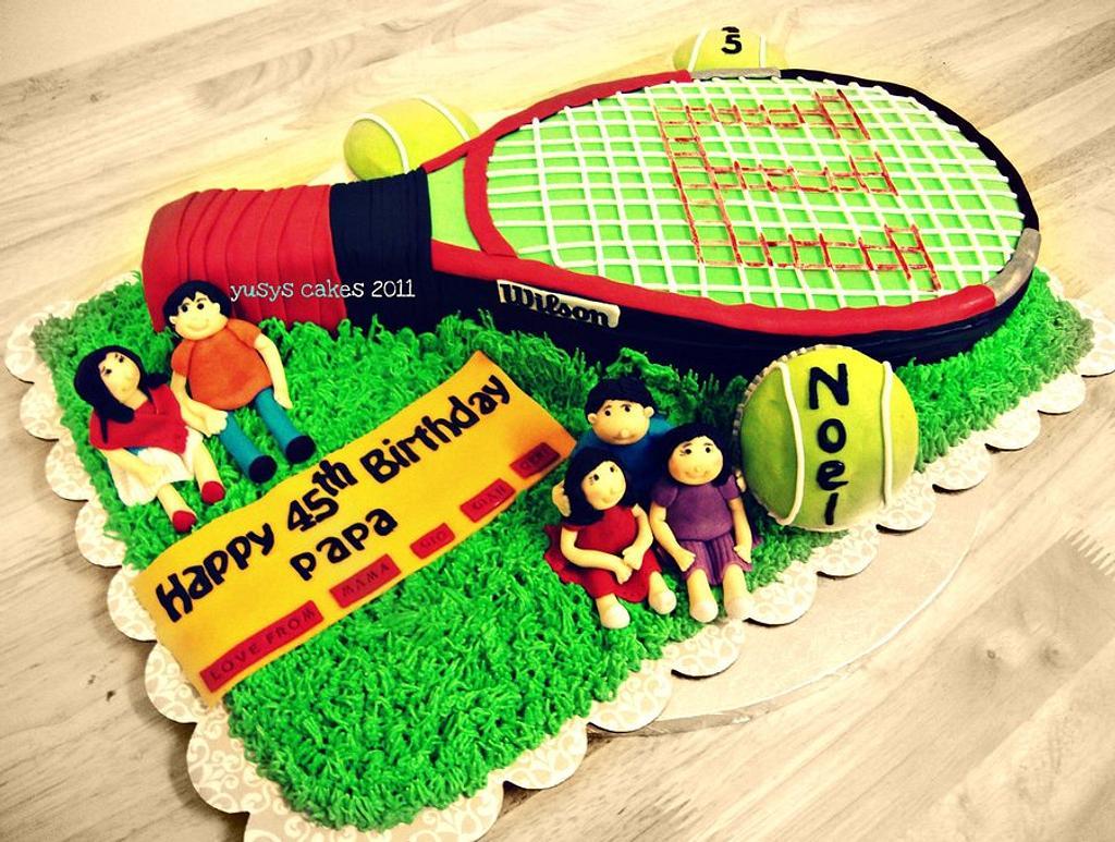 Wilson Tennis Cake by Yusy Sriwindawati