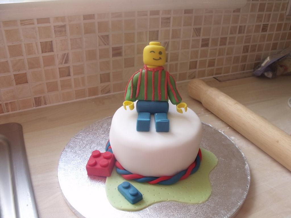 Lego Man Cake by Lisa
